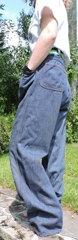 VINTAGE 1970'S MEN'S DENIM PANTS SIZE 34 INCH WAIST 3