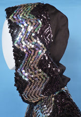 1970'S DISCO ERA FLARED SLEEVE JACKET WITH SEQUIN TRIMS AND HOOD 3