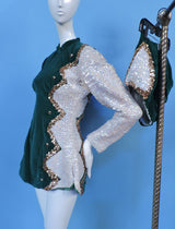 VINTAGE COSTUME 1950'S MAJORETTE / DANCE 2 PC SEQUIN SUIT 1