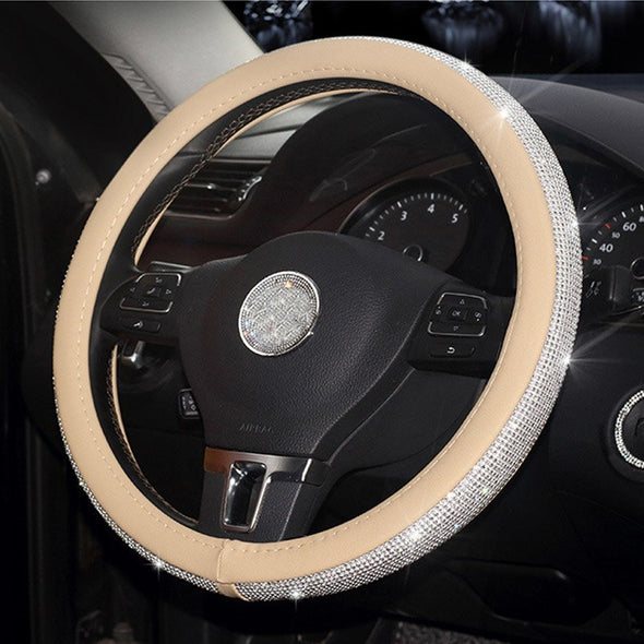 Crystal Steering Wheel Cover