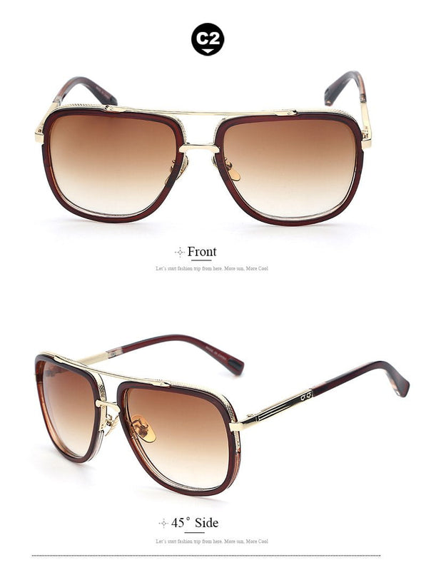 Vintage Big Frame Sunglasses-glasses-Classica Store