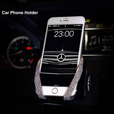 Style M Crystal Rhinestone Car Phone Holder