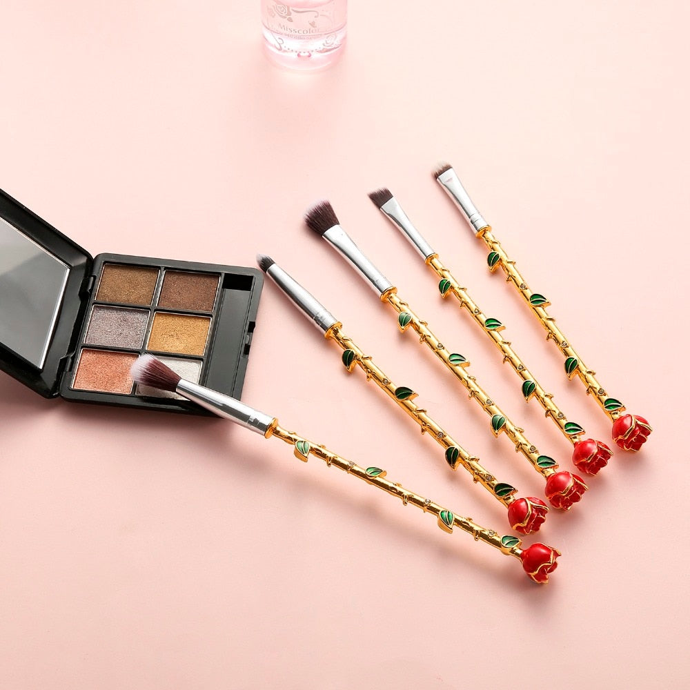 Rose Flower Makeup Brushes