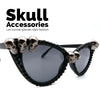 Black Rhinestone Skull Sunglasses