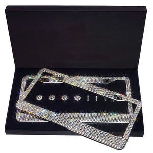 LUXURY CRYSTAL LICENSE PLATE FRAME