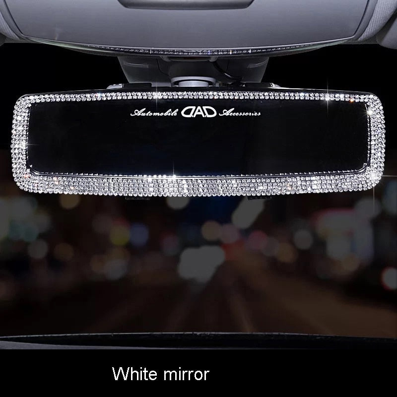 Crystal Car Rearview Mirror