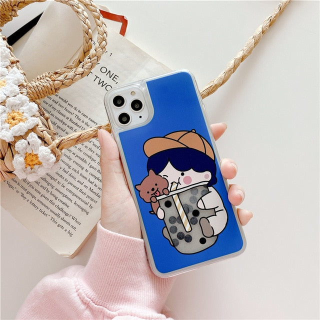 Cute Cat Boba Iphone Case