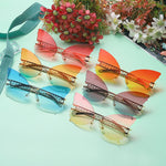 Butterfly Rimless Sunglasses