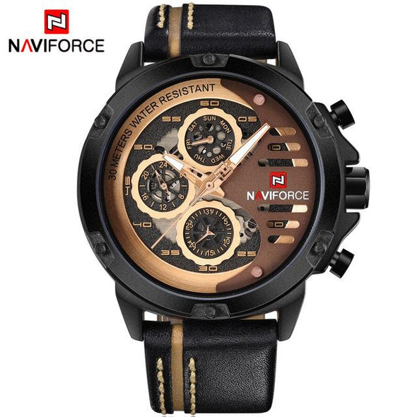 NAVIFORCE Leather Watch