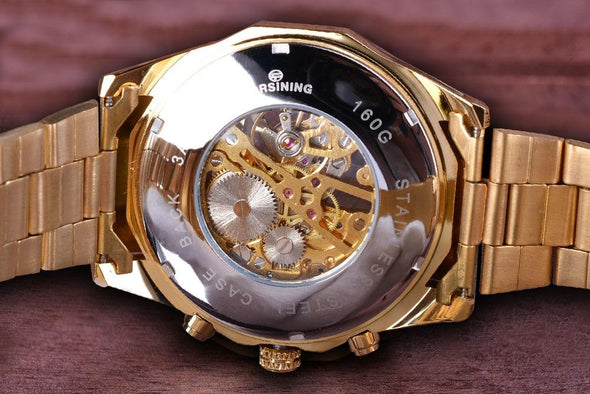 Forsining Men Skeleton Watch