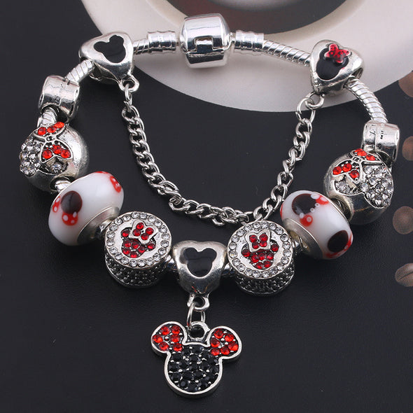 Elegant Disney Bracelet with Charms