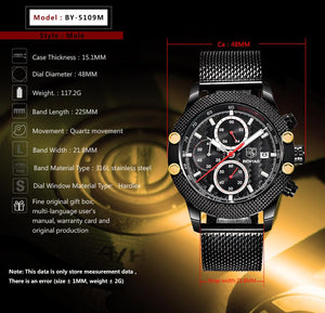 Carbon Benyar Chronograph Watches-Classica Store