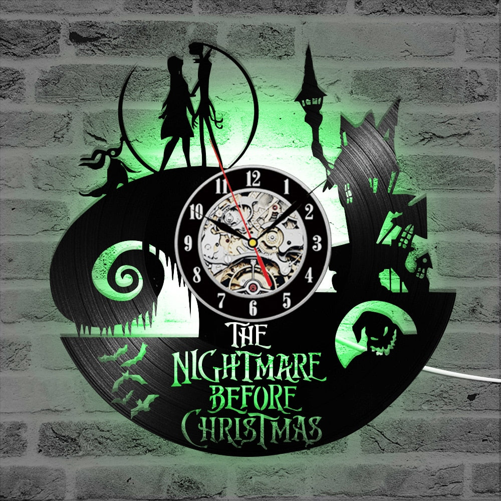 The Nightmare Before Christmas Vinyl Record Clock - Classica Store