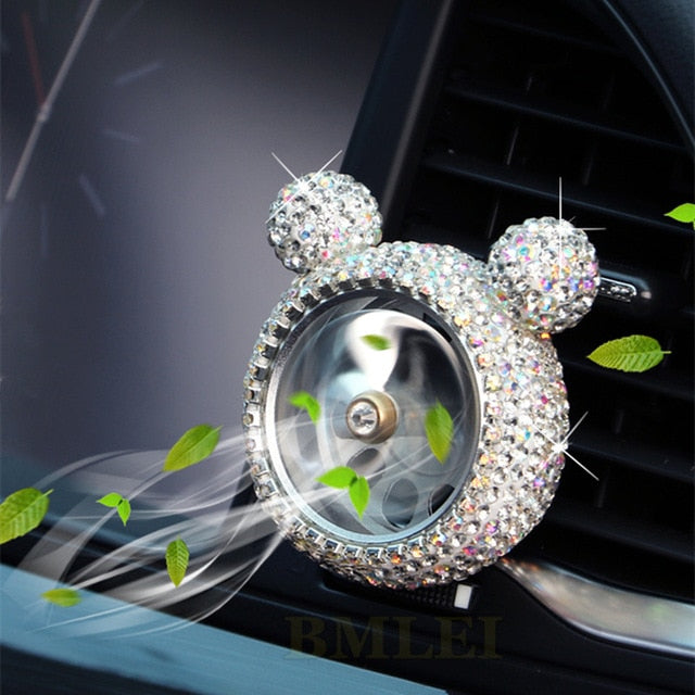 Creative Bling Crystal Air Freshener Perfume