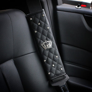 Universal New Crystal Car Seat Belt Cover ,Hand Brake, Gear Cover