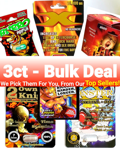 Mixed Pills - Bulk Deal - 3ct - B.B. USA Online Store