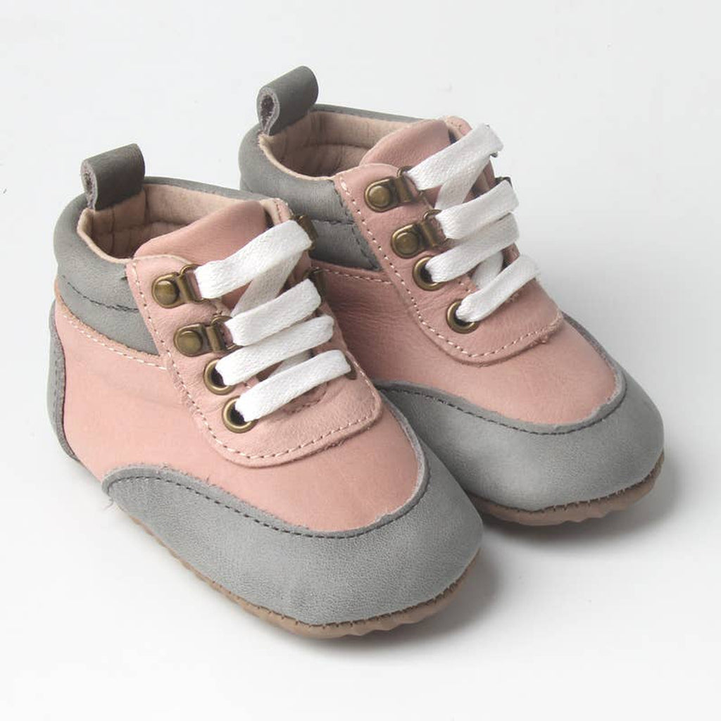 Pink & Gray Boots