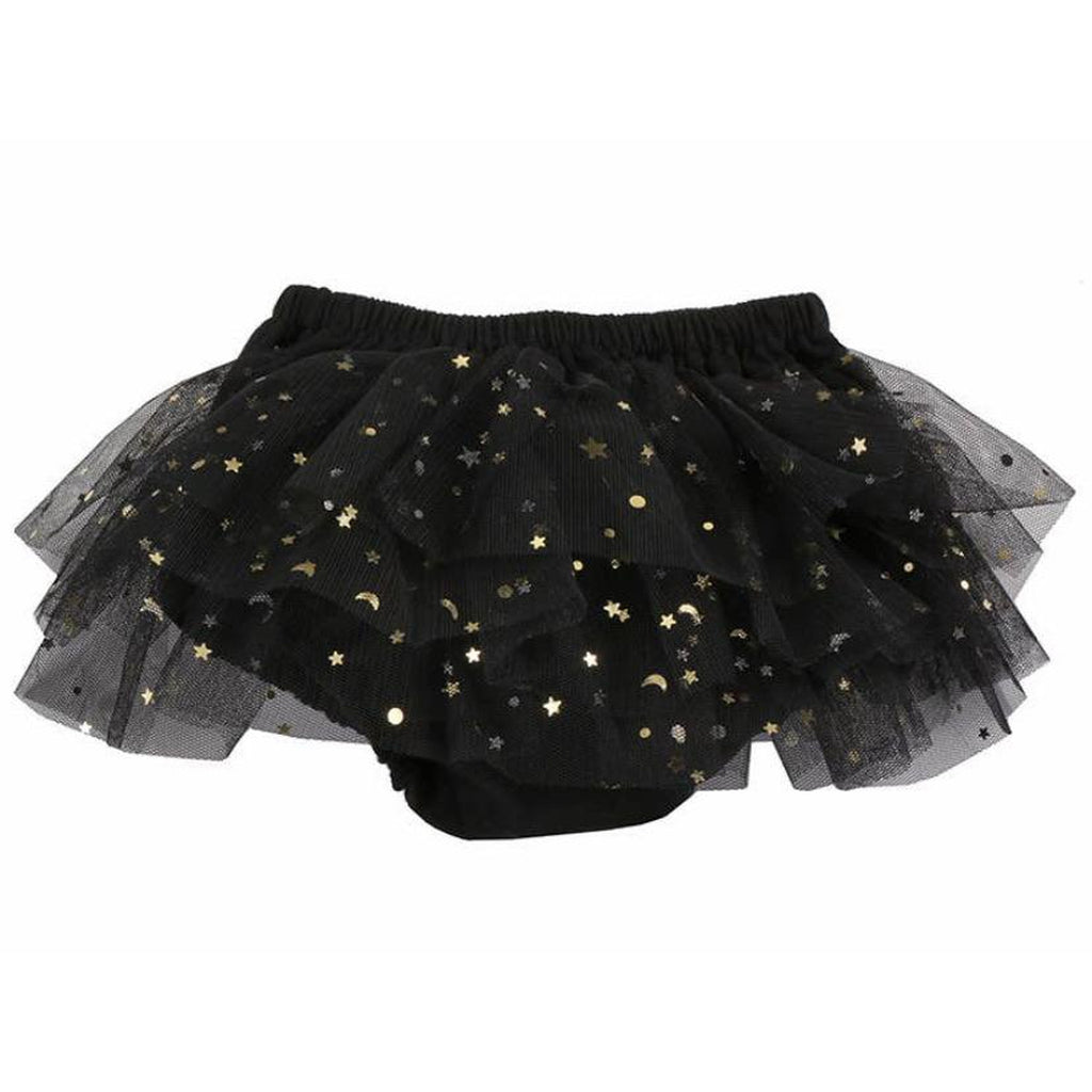 Moon & Stars Tulle Bloomer - Black