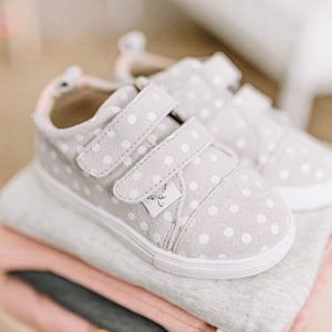 Gray Polka Dot Sneakers
