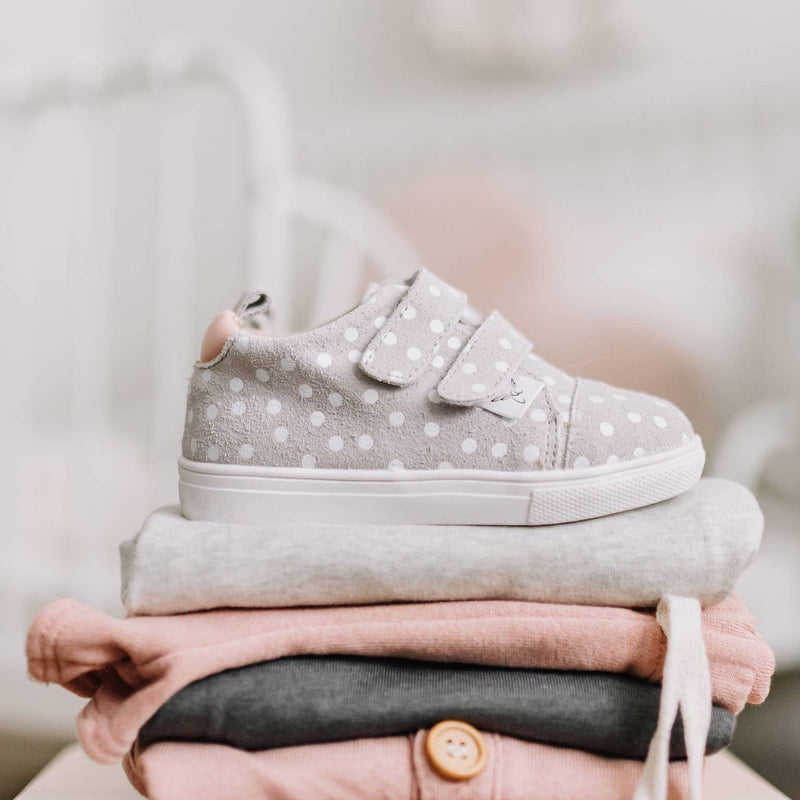 pink polka dot sneakers