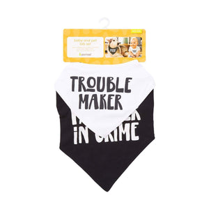 Trouble Maker Baby & Dog Bib Set