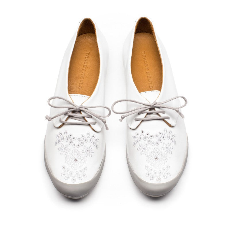 Shoes With Broderie Anglaise