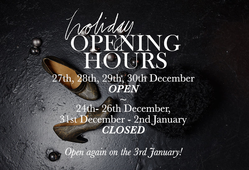 Tracey Neuls Shop | Holiday Opening Hours