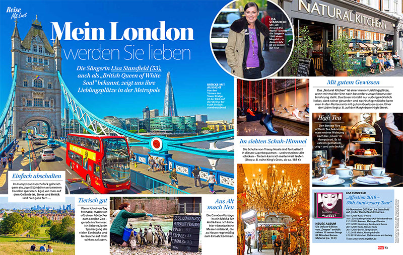 Lisa Stansfield's Guide To London | Tracey Neuls