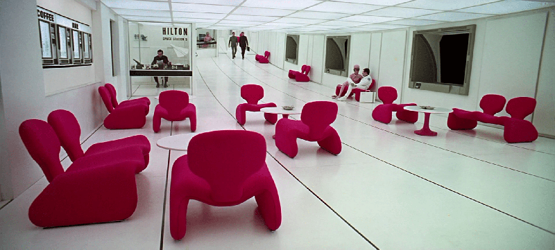 Interior design still from Space Odyssey by Stanley Kubrick