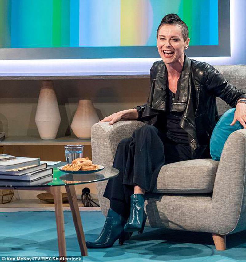 Singer Lisa Stansfield wearing Tracey Neuls SNUG Leather Boots