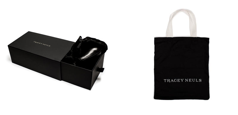 Black Tracey Neuls Tote bag and Luxury Sliding shoe box with Fur Bags