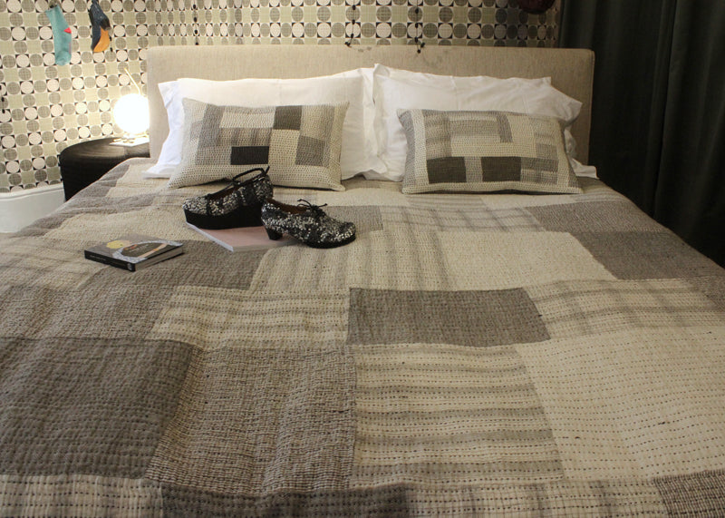 Bedding by stitch by stitch graham hollick on display at tracey neuls marylebone store