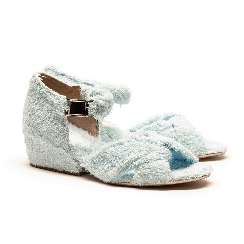 JACKIE Baby Blue Terry Towel Sandal | Tracey Neuls