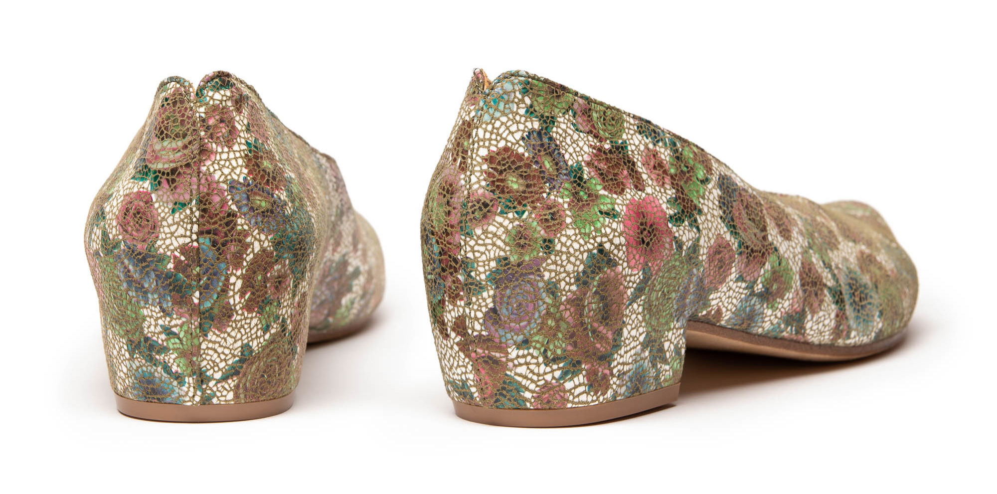Keiran Wildflower mid heel shoes in luxury leather Tracey Neuls