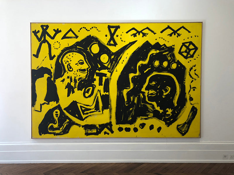 A. R. Penck Painting in the Michael Werner Gallery