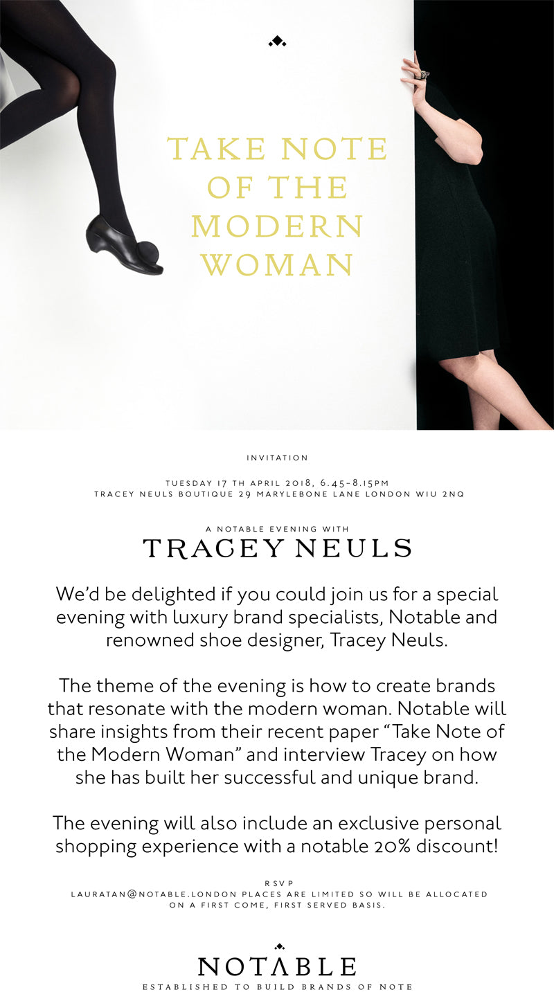 Notable brand agency Tracey Neuls