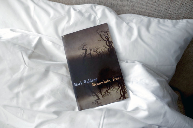 Mark Waldron Meanwhile Trees on bed linen by beaumont and brown matthew hilton bed
