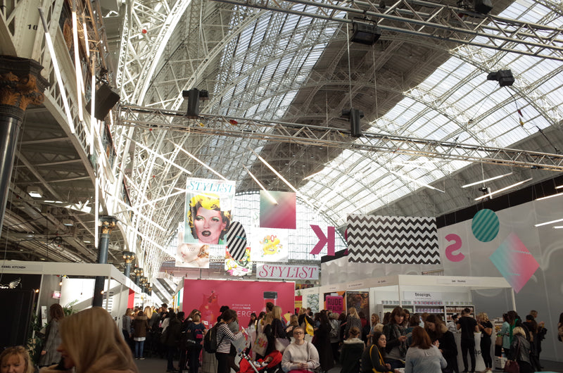 High ceiling stylist live event at Olympia