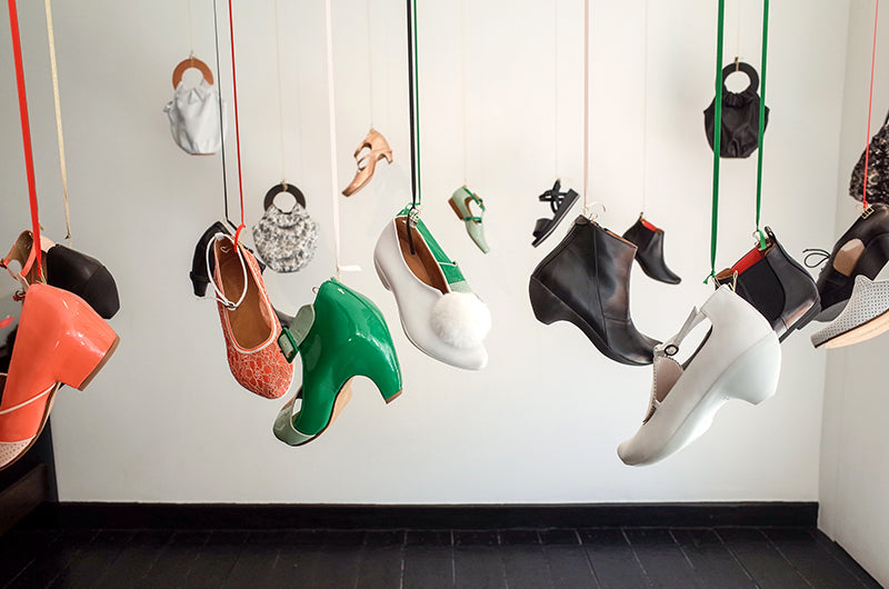 The Original Designer Hanging shoes from cieling