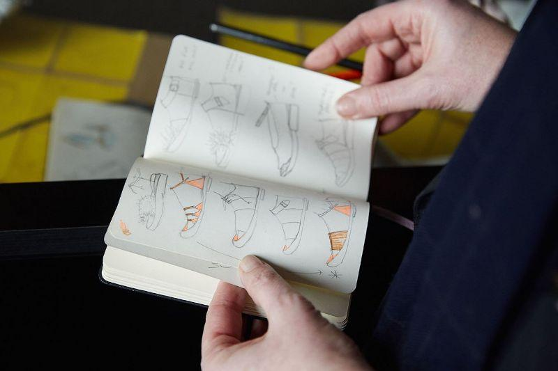 A peek into the sketchbook of shoe designer Tracey Neuls