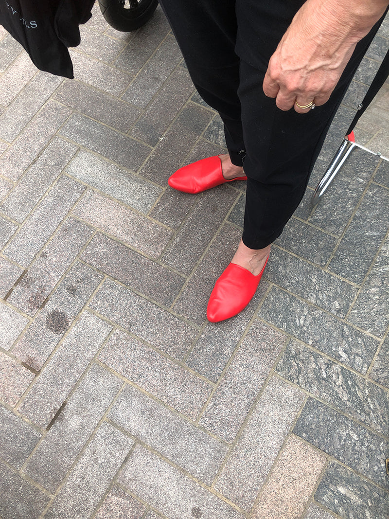 Red Mules by Tracey Neuls.