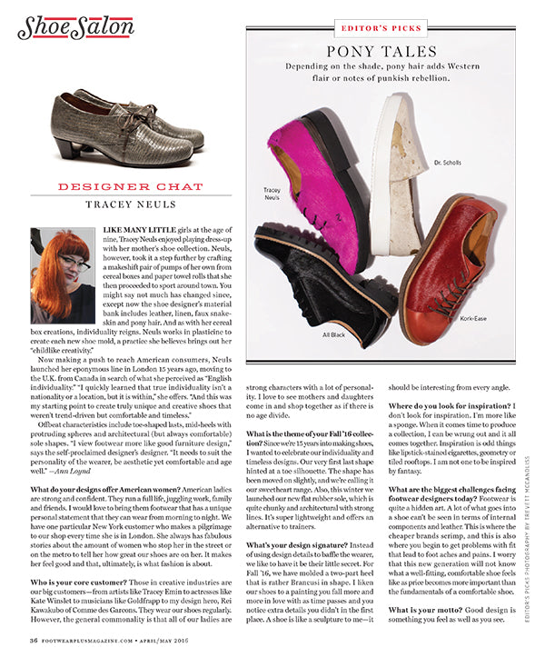 Tracey Neuls Footwear Plus interview