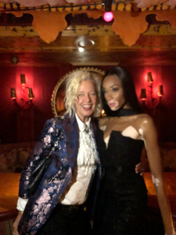 Model Winnie Harlow and Ellen Vonunwerth