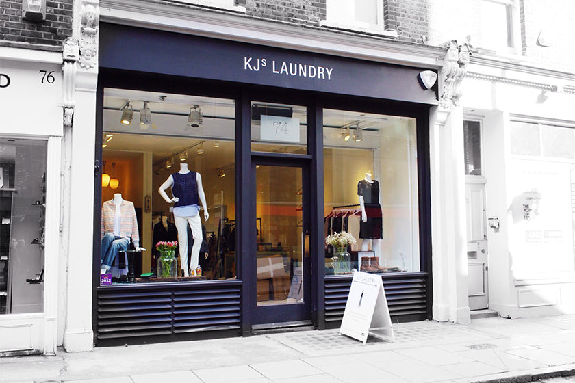 KJ's Laundry in Marylebone, christmas clothing shopping in marylebone london