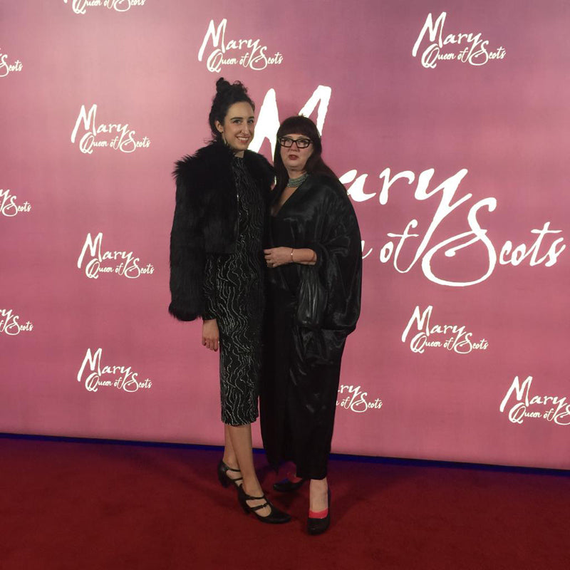Designer Tracey Neuls with Jane Howard at Mary Queen of Scots premiere