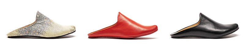 Women's Leather Mules Slip On Shoes by Designer Tracey Neuls