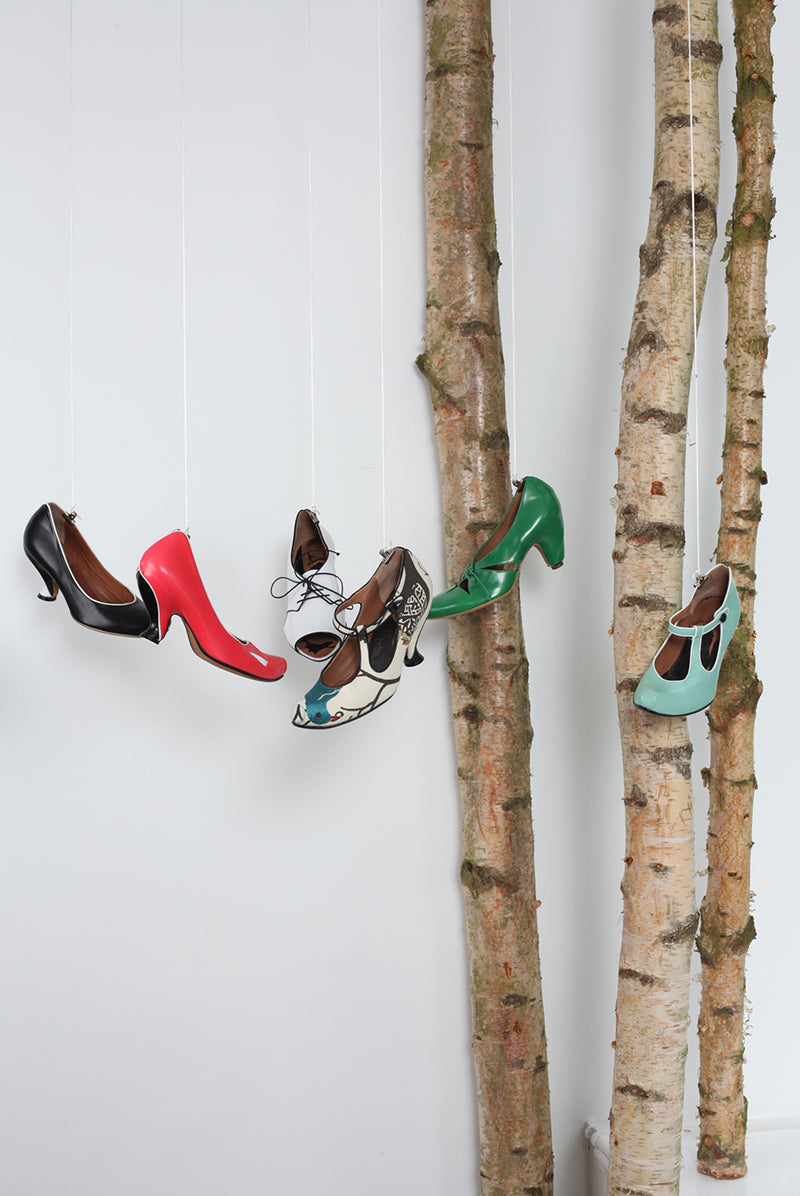 Tracey Neuls Shop that Hangs shoes from the ceiling