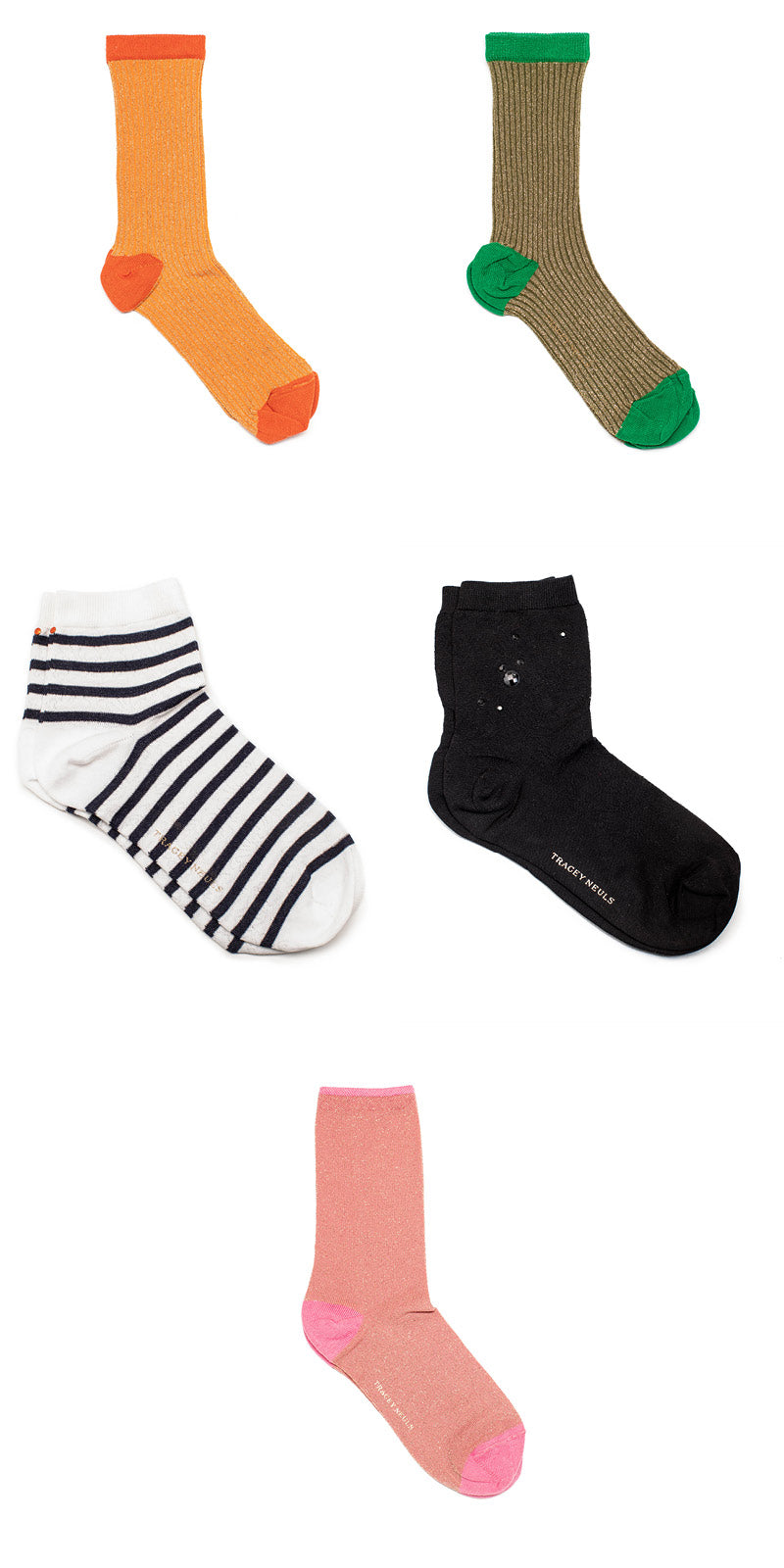 colourful socks by designer Tracey Neuls