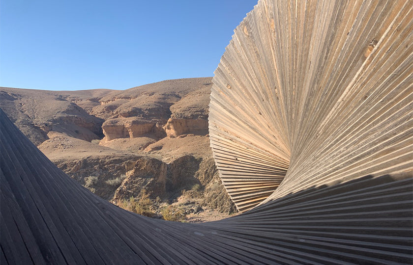 sculpture in the moroccan desert by designer tracey neuls