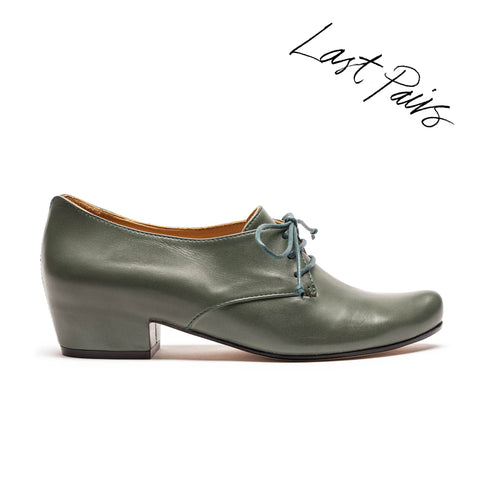 CUSCUS Sage | Green Leather Shoe